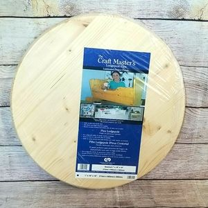 NWT Craft Master's Round Board Solid Pine